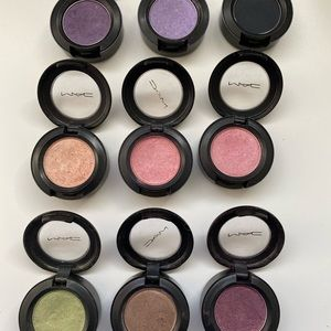 9 MAC cosmetics eyeshadows